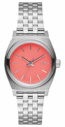 (Sale!!!) Nixon Small Time Teller Watch<br>Bright Coral