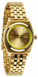 (Sale!!!) Nixon Small Time Teller Watch<br>Gold/Neon Yellow