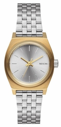 Nixon Small Time Teller Watch<br>Gold/Silver/Silver