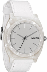 Nixon Time Teller Acetate Leather Watch<br>Ladies
