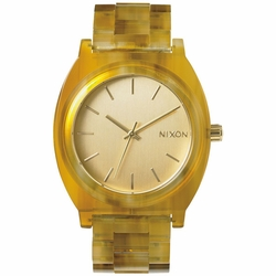 (Sale!!!) Nixon Time Teller Acetate Watch<br>Champagne Gold/Amber