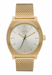 Nixon Time Teller Milanese Watch<br>All Gold/Cream