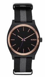 Nixon Time Teller Watch<br>Black/Rose Gold/Charcoal