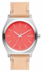 (Sale!!!) Nixon Time Teller Watch<br>Bright Coral/Natural