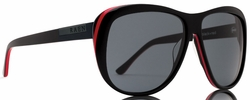 (Sale!!!) Raen Schade Sunglasses<br>Black w/Red Pin Stripe/Smoke