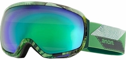 (Sale!!!) Anon Optic Tempest Snow Goggles<br>Faultline/Green Solex