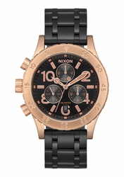 (Sale!!!) Nixon 38-20 Chrono Watch<br>Black/Rose/Black