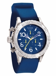 (Sale!!!) Nixon 42-20 PU Chrono Watch<BR>Blue