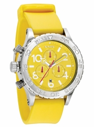 (Sale!!!) Nixon 42-20 PU Chrono Watch<BR>Yellow
