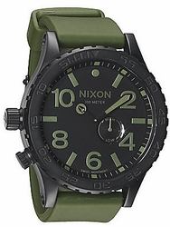 (Sale!!!) Nixon 51-30 PU Watch<br>Matte Black/Surplus