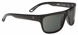 Spy Angler Sunglasses<br>Black/Happy Grey Green Polarized