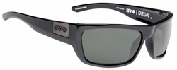 Spy Dega Sunglasses<br>Black Ansi/Happy Grey Green