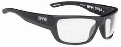 Spy Dega Sunglasses<br>Matte Black Ansi/Clear