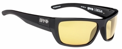 Spy Dega Sunglasses<br>Matte Black Ansi/Happy Yellow
