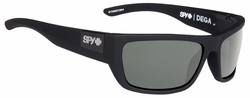 Spy Dega Sunglasses<br>Soft Matte Black/Happy Grey Green Polar