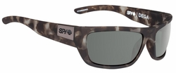 (Sale!!!) Spy Dega Sunglasses<br>Soft Matte Smoke Tort/Happy Grey Green