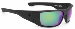 (Sale!!!) Spy Dirk Sunglasses<br>Matte Black/Happy Bronze Polarized w/Green Spectra
