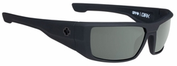 Spy Dirk Sunglasses<br>Soft Matte Black/Happy Grey Green Polarized