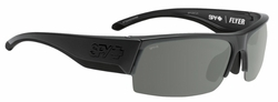 Spy Flyer Sunglasses<br>Matte Black Ansi/Happy Grey Green<br>+ Happy Yellow + Clear Bonus Lenses