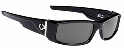 Spy Hielo Sunglasses<br>Black/Happy Grey Green Polarized