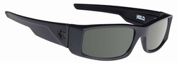 Spy Hielo Sunglasses<br>Soft Matte Black/Happy Grey Green Polar