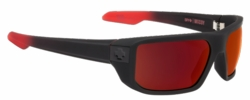 Spy Mccoy Sunglasses<br>Soft Matte Black Red Fade/Happy Gray Green w/Red Flash