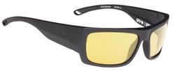 Spy Rover Sunglasses<br>Matte Black Ansi/Happy Yellow