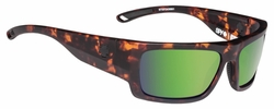 Spy Rover Sunglasses<br>Soft Matte Camo Tort/Happy Bronze Polarized w/Green Spectra
