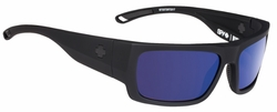 Spy Rover Sunglasses<br>Soft Matte Black/Happy Grey Green w/Dark Blue Spectra