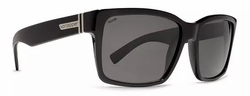 VonZipper Elmore Sunglasses<br>Black Gloss/Grey Poly Polarized