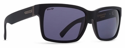 VonZipper Elmore Sunglasses<br>Black Smoke Satin/Wildlife Vintage Grey Polarized