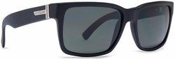 VonZipper Elmore Sunglasses<BR>Shift Into Neutral<br>Black Satin/Grey