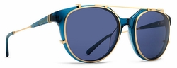 VonZipper Hyde Sunglasses<br>Dark Navy Trans Gold/Cobalt