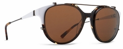 VonZipper Hyde Sunglasses<br>White Tort Silver/Bronze
