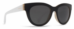 VonZipper Queenie Sunglasses<br>Black Buff White/Grey