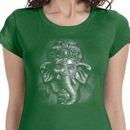 3D Ganesha Darks Ladies Yoga Shirts