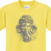 3D Ganesha Lights Kids Yoga Shirts