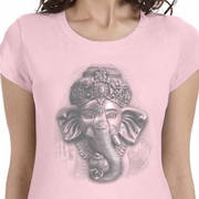 3D Ganesha Lights Ladies Yoga Shirts