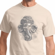 3D Ganesha Lights Mens Yoga Shirts