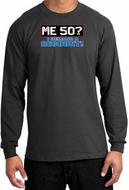 50th Birthday Long Sleeve Shirt Funny Me 50 Years Charcoal Shirt