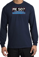 50th Birthday Long Sleeve Shirt - Funny Me 50 Years Navy Longsleeve