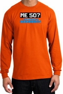 50th Birthday Long Sleeve Shirt Funny Me 50 Years Orange Longsleeve