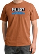 50th Birthday Pigment Dyed T-Shirt - Me 50 Years Burnt Orange Shirt