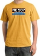 50th Birthday Pigment Dyed T-Shirt - Me 50 Years Mustard Shirt