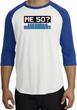 50th Birthday Raglan Shirt Funny Me 50 Years White/Royal Tee Shirt