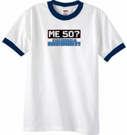 50th Birthday Ringer T-shirt Funny Me 50 Years White/Navy Tee Shirt