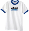 50th Birthday Ringer T-shirt Funny Me 50 Years White/Royal Tee Shirt
