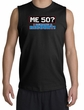 50th Birthday Shooter - Funny Me 50 Years Adult Black Muscle Shirt