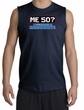 50th Birthday Shooter - Funny Me 50 Years Adult Navy Muscle Shirt