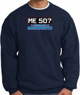 50th Birthday Sweatshirt - Funny Me 50 Years Navy Sweat Shirt